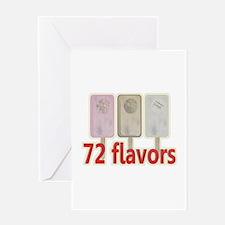 72 Flavors of Kabbalah Greeting Card