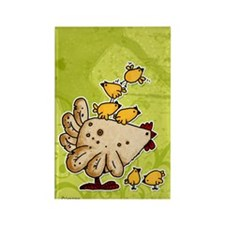 chickens Rectangle Magnet (10 pack)