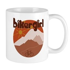BikerGirl Sunset Sky Lefty Small Mug