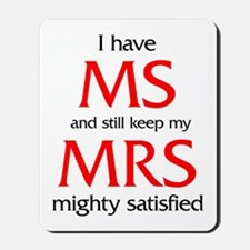 MS humor for him Mousepad