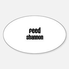 Feed Shannon Oval Decal