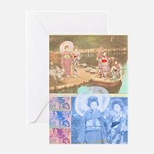 Water Geishas Greeting Card