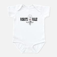 Robots Rule - black-n-white Infant Bodysuit