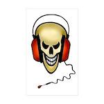 hard rock Rectangle Sticker 50 pk)