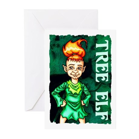 Whimsical Tree Elf Greeting Cards (Pk of 10)