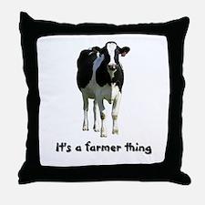 Farmer Thing Throw Pillow