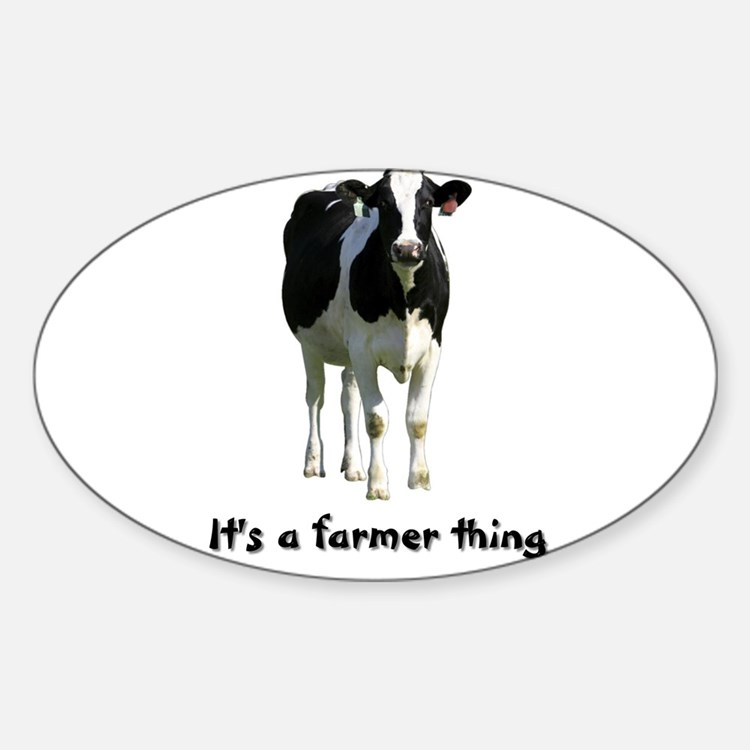 Farmer Thing Oval Decal