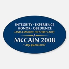McCain & A Smokin' Hot 1st Lady Oval Decal