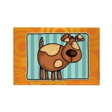 doggy square Rectangle Magnet (10 pack)