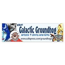 Galactic Groundhog Bumper Bumper Sticker