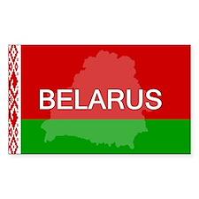 Belarus Flag + Rectangle Decal