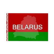 Belarus Flag + Rectangle Magnet