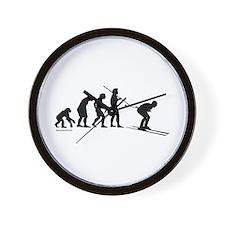 Ski Evolution Wall Clock