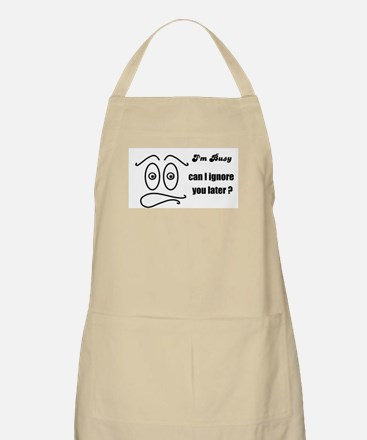 BUSY RIGHT NOW BBQ Apron