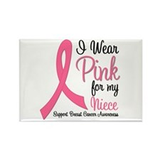 I Wear Pink For My Niece Rectangle Magnet