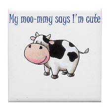 Moo-mmy Tile Coaster