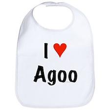I love Agoo Bib