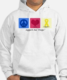 Peace Love Support Troops Hoodie