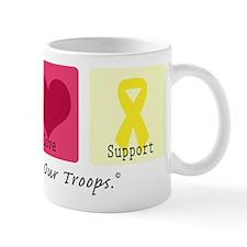 Peace Love Support Troops Mug
