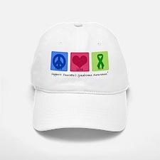 Peace Love Cure Tourette Baseball Baseball Cap