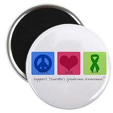 Peace Love Cure Tourette Magnet