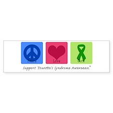 Peace Love Cure Tourette Bumper Bumper Sticker