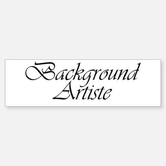 Background Artiste Bumper Bumper Bumper Sticker
