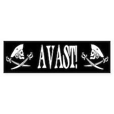 Avast! Pirate Bumper Car Sticker