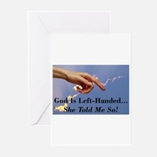 God Is Left-Handed Greeting Cards (Pk of 10)