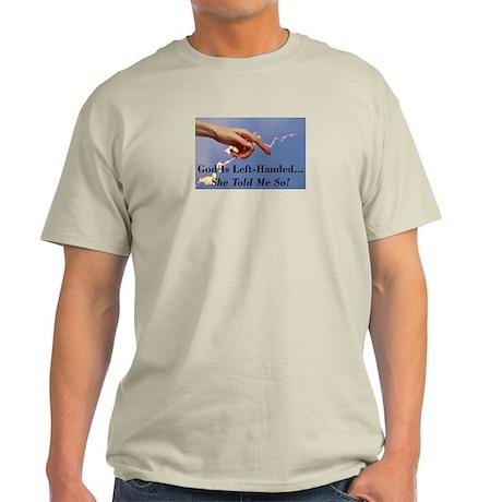 God Is Left-Handed Ash Grey T-Shirt