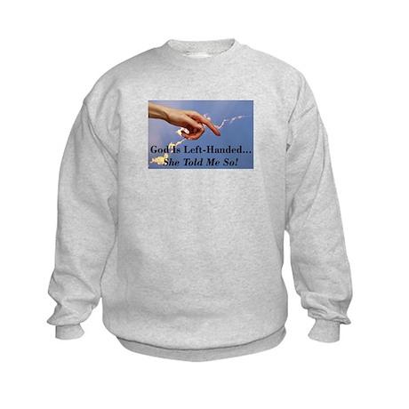 God Is Left-Handed Kids Sweatshirt