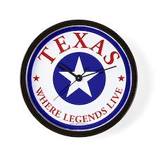 Texas Where Legends Live Texas Clock