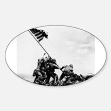Iwo Jima Oval Bumper Stickers