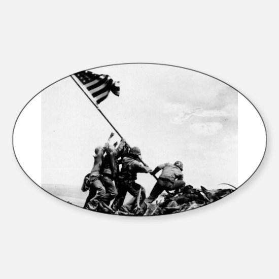 Iwo Jima Oval Bumper Stickers