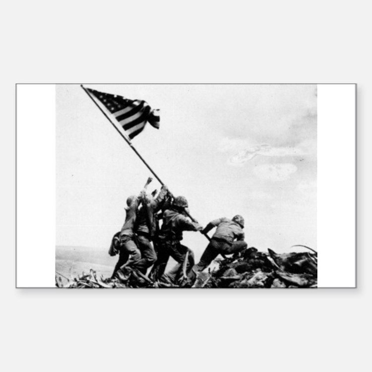 Iwo Jima Rectangle Bumper Stickers