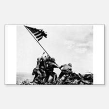 Iwo Jima Rectangle Decal