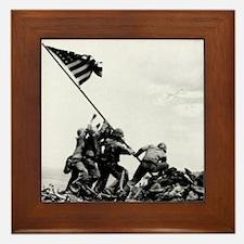 Iwo Jima Framed Tile
