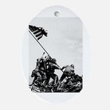 Iwo Jima Oval Ornament