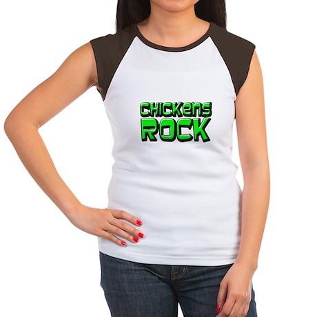 Chickens Rock Women's Cap Sleeve T-Shirt