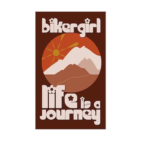 BikerGirl Life Is A Journey Rectangle Sticker