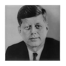 John F. Kennedy Tile Coaster