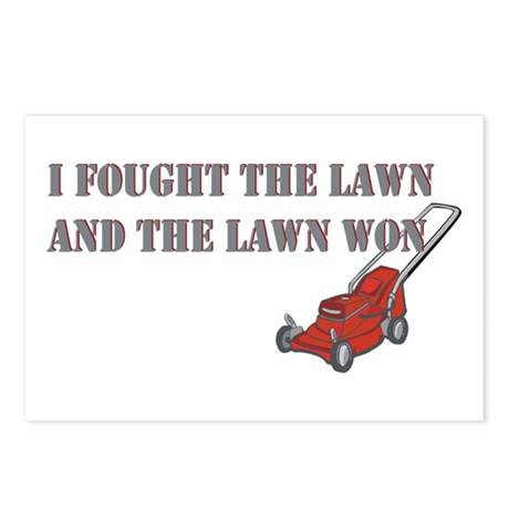 I Fought The Lawn Postcards (Package of 8)