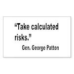 Patton Take Risks Quote Rectangle Sticker 10 pk)