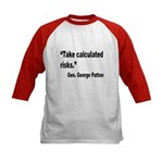 Patton Take Risks Quote (Front) Kids Baseball Jers