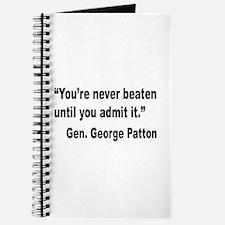 Patton Never Beaten Quote Journal