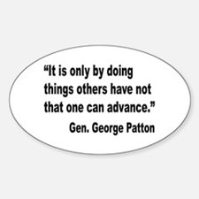 Patton Doing Things Quote Oval Decal