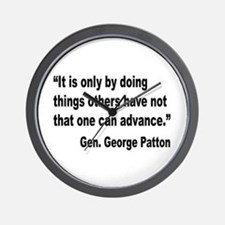 Patton Doing Things Quote Wall Clock