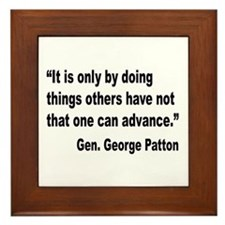 Patton Doing Things Quote Framed Tile