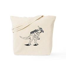 Dino Mask Tote Bag