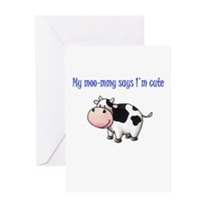 Moo-mmy Greeting Card